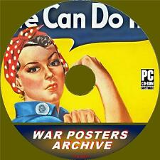 GIANT WAR POSTERS ARCHIVE ON PC-CD 4500+ NOSTALGIC IMAGES FROM WW2 ERA NEW NEW