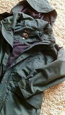 JACK MURPHY QUALITY LADIES HORSE RIDING COAT SIZE 8 DARK GREEN NEW HOODED
