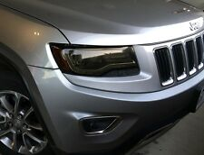 2014-2016 JEEP GRAND CHEROKEE SMOKE HEAD LIGHT PRECUT TINT COVER SMOKED OVERLAYS
