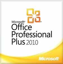 Microsoft Office 2010 Profesional Plus Full Version 32 & 64 bits clave rápido Delive