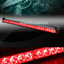 "31.5"" RED LED TRAFFIC ADVISOR ADVISING EMERGENCY WARNING FLASH STROBE LIGHT BAR"