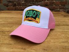 Bobos Beard Company Pink Trucker Baseball Cap Hat Baseball Retro Ladies Women's