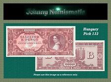 Hungary 100.000 B.-Pengo 1946 UNC Pick 133