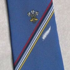 CARLTON OF LONDON TIE VINTAGE CLUB ASSOCIATION PRINCE OF WALES FEATHERS 1980s