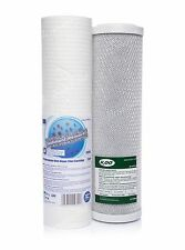 "SET OF 5 MICRON SEDIMENT FILTER 10""AND CARBON BLOCK•REVERSE OSMOSIS•REPLACEMENT•"