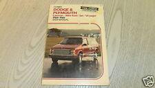 Reparaturanleitung Dodge & Plymouth  , Caravan , Mini Ram Van , Voyager 1984-85