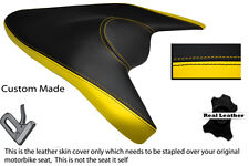 BLACK & YELLOW CUSTOM FITS APRILIA 1000 TUONO V4 V4R APRC 11-13 REAR SEAT COVER