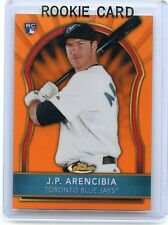 "2011 TOPPS FINEST #66 J.P. ARENCIBIA ""ORANGE REFRACTOR"" #4/99, TORONTO BLUE JAYS"
