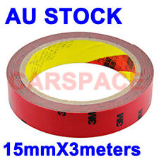 3M Double Face Sided Adhesive Tape15mm 3meters for Car Truck Dashboard trim LED