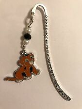 CUTE SIMBA LION DISNEY BOOKMARK TIBETAN SILVER enamel charm Present In Gift Bag