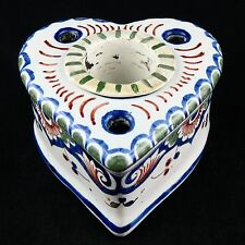 "ENCRIER Ancien, ""COEUR"" Faïence ROUEN nevers/desvres/ceramic/French Inkwell 19th"