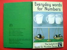 Everyday Words For Numbers vintage Ladybird book children reading learning maths
