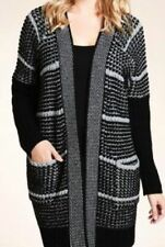 M&S OpenFront ZigZag Striped Cable Knit Cardigan with Wool, size S- M, was £49.5