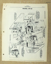Frigidaire Electric Range  Parts Catalog RV-60