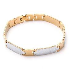 18K  Yellow Gold Plated Men's Bracelet Chain Jewelry Gift 20.6g B78