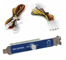 NEW Asetek Fan RPM Speed Controller Cooling KIT PC 12V Power 4-pin PCI back slot