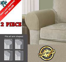 2 Piece Armrest Covers Stretchy Set Chair or Sofa Arm Protectors One Size Fit