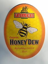 Beer COASTER ~*~ FULLER'S Brewery Organic Honey Dew Golden Brew w/ English Malts