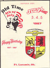 150 YEAR (1837-1987) CELEBRATION BOOKLET: FORT LORAMIE OHIO