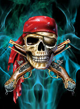 New Pirate Skull Lenticular 3D Picture Poster Painting Home Decor Wall Art Decor