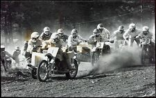 photo . course de sides-car . motos