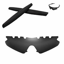 Polarized Black Vented Replacement+Black Earsocks for Oakley M Frame Sweep