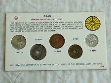 JAPAN 5 COIN MODERN UNCIRCULATED TYPE SET