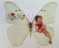 """Sexy Red Basque Glitter Betty Boop Print Butterfly 3D Wall Art  Decal Sticker 5"""""""