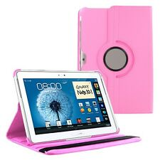 """LIGHT PINK 360 Rotating Leather Case Cover for Samsung Galaxy Note 10.1"""" N8000"""