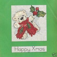Happy Christmas Bear Cross Stitch Card Kit - DMC - K4821