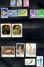 stamp ROMANIA A378(3) A537(3) A644(2) A675(2) A688(3) AP39 AP40 MINT SET LOT