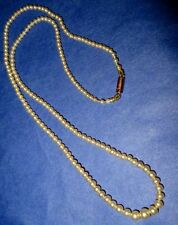 Antique Victorian Pearl Necklace 9Ct Gold Barrel Clasp, Hallmarked