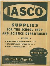 1970s IASCO Co Catalog supplies for school shops and science departments