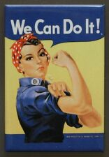 Rosie The Riveter FRIDGE MAGNET We Can Do It Classic AD Government WWII War F25