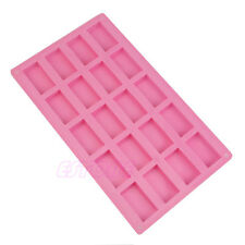 Hot Silicone 20-Rectangle Soap Mold For Candy Chocolate Cake Soap Mould