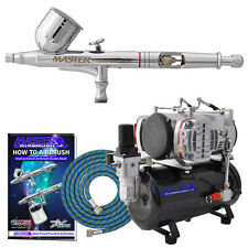 G23 Multi-Purpose Dual-Action AIRBRUSH KIT SET Twin Piston Air Compressor Hobby