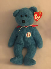 ADDISON THE BLUE BASEBALL BEAR - Ty Beanie Baby (Beanies, Babies)