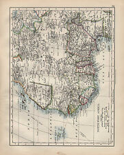 1900 VICTORIAN MAP ~ NORTH-WEST AFRICA CAPE VERD CANARY SAHARA GUINEA