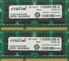 8GB kit,204-pin SODIMM,DDR3 PC3-8500,1067MHz ram memory module for 2009 iMacs