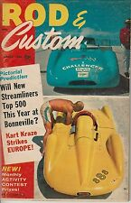 1960 Rod & Custom Aug Bonneville Streamliner story TRIUMPH motorcycle 1932 Ford
