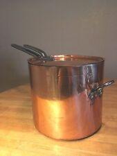Antique Large Copper Sauce Pot-Benham & Froud - Helper's Handle & Lid