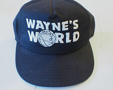 Vintage 1991 Wayne's World Saturday Night Live SNL Hat Cap Black Snapback