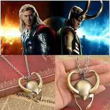New Film Surrounding Necklace Avengers Thor Loki Gold Mask Pendant Helmet Pewter