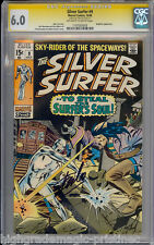 SILVER SURFER #9 CGC 6.0 OWW STAN LEE SIG SERIES CGC #1197203003
