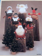 "All Cooped Up pattern HOliday Potpourri santa pilgrim reindeer angel 4"" doll"