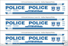1/18 SCALE HALIFAX REGIONAL POLICE DECALS -  MOTORMAX FORD CROWN VICTORIA