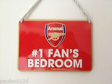 No 1 Fans Bedroom Sign ( Arsenal Football Club ) Official Licenced Product