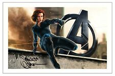 SCARLETT JOHANSSON AVENGERS 2 AGE OF ULTRON SIGNED PHOTO PRINT BLACK WIDOW