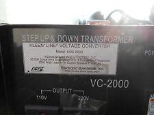 ESP KLEEN LINE VOLTAGE CONVERTER MODEL UDC2000 STEP UP & DOWN TRANSFORMER (H6-3)