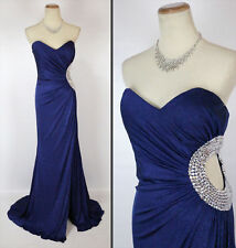 NWT Jovani Navy Long Strapless Evening Prom Formal $500 Cruise Size 6 Gown Dress